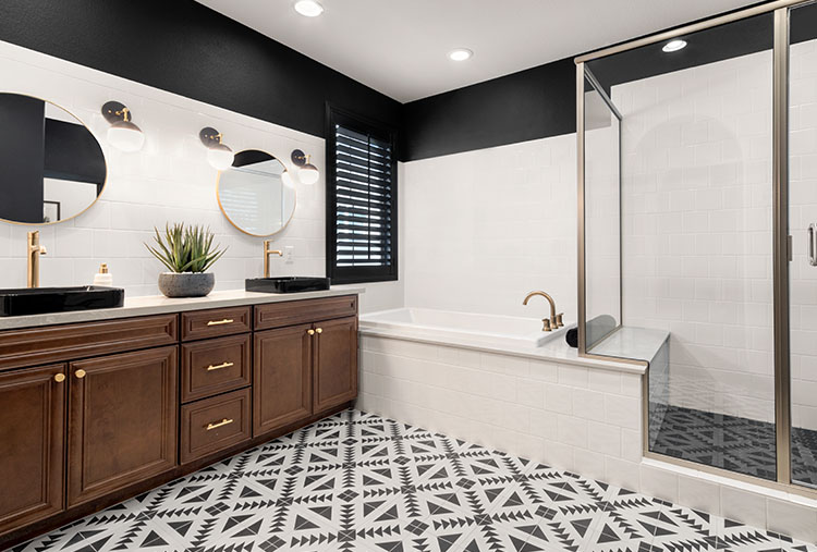 Bobby Berk Bathroom Design with Trinsic Faucets